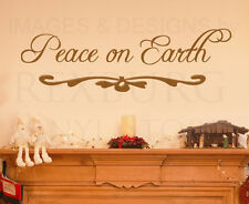 Wall Decal Sticker Quote Vinyl Art Lettering Letter Peace on Earth Christmas C18
