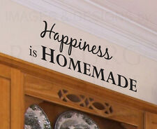 Wall Decal Quote Sticker Vinyl Art Removable Happiness is Homemade Kitchen KI06