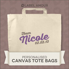 PERSONALISED Name Favour Hen Do Party Gift Canvas Tote Bag   Team   3 sizes