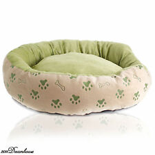 New Detachable Washed Paws Print Dog Pet Cat Bed Pet Dog Kennel Bed Sz Medium