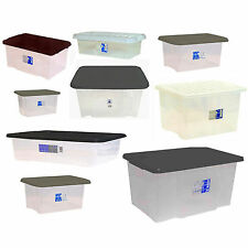Large Midium Small Size Plastic Clear Storage Deal Boxes Set Container with Lid