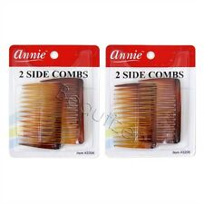 """Annie 2 packs of 2 Side Hair Combs (Size: 2 3/4"""" x 1 3/4"""")"""