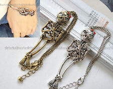1pc Cute Vintage Skull Chain Bracelet 2-Color Great Quality Free Shipping