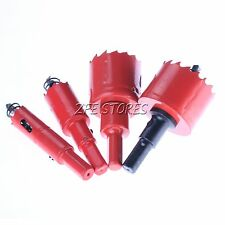 New 1PC Red Wood Aluminum Alloy Plastic Hole Saw Bit Select from 15mm to 80mm