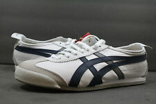 New! Asics OnitsukaTiger Mexico 66!! WHITE-NAVY!! UNISEX SHOE! HK7C2! 7.5 TO 13!