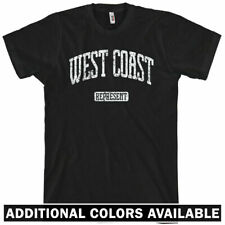 WEST COAST REPRESENT T-shirt - WC - Men and Youth Sizes XS-4XL - NEW