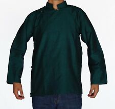 TRADITIONAL TIBETAN SHIRT FOR MEN OR WOMEN COTTON GREEN