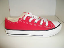 Kids/Adults Converse A/S OX Brand New Red Sizes UK Adult 3-10 Free P&P