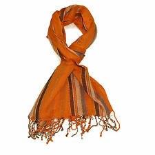 Womens Striped Pashmina Scarf Colourful Stripes Beautiful Ladies Soft Scarf New
