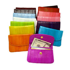 Genuine Eel skin Leather  Coin Purse Wallet 14 Colors