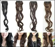 Long Curly Wavy Clip on Hair Extension Hairpiece 45 x 8cm Extra Volume & Lift UK