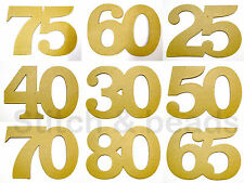 Birthday Party Theme Numbers 17x12cm Paper Mache Cardboard 3mm Think Shape Sign