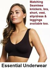 BEAUFORME SEAMLESS REMOVABLE PADDED COMFORT LEISURE SPORTS BRA,COSY STRETCH BRA,