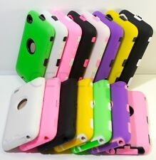 NEW impact hybrid tough Case cover for ipod Touch 4 4th Gen Pink Multi Colors