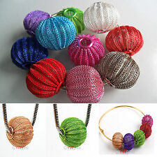 10pcs Multicolor Basketball Wives Earrings Spacer Craft Mesh Beads 20mm 25mm