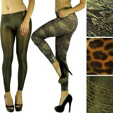 Pick A Sexy Opaque Shimmery Reptile Animal Snake Python Print Leggings Tights