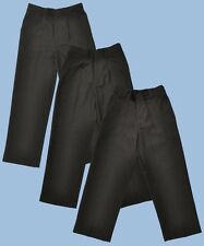 Boys School Trousers Grey Black Navy Age 3 - 16 Years Uniform