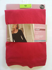 NEW MARKS AND SPENCERS HEAT GENERATING THERMAL LONG SLEEVE T-SHIRT   RED