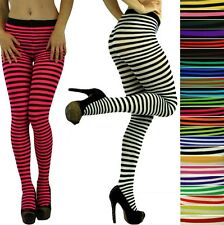 Choose A Super Sexy Colorful Opaque Striped Tights Pantyhose Stocking Hosiery