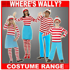 Wheres Wally Fancy Dress Costume, Male, Female, Childrens Family Outfits Where's