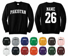 Country of Pakistan Adult Crewneck Sweatshirt Personalized Custom Name & Number