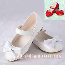 Mary Janes Shoes Size UK 95.5-12 EU 22.5-30 Flower Girl Bridesmaid Party GS011