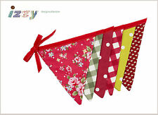 SHABBY VINTAGE ROSALI CHIC TRADITIONAL DECORATION DOUBLE SIDED CHRISTMAS BUNTING