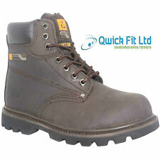 MENS WALKLANDER LEATHER SAFETY BOOTS STEEL TOE CAP TRAINERS SHOES SIZES 6-12 UK
