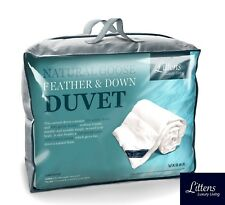 KING BED SIZE LUXURY GOOSE FEATHER AND DOWN DUVET QUILT