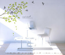 Tree Birds Wall Decals Removable Vinyl Home Decor Stickers for Living Rooms
