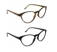 Cut Tip Fashion Sexy Mod Chic Cat Eye Clear Lens Glasses Vintage Celebrity Black