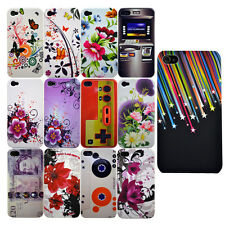 For Iphone 4 4S New Colourful Flower/Stars/ Stylish Design Hard Phone Case Cover