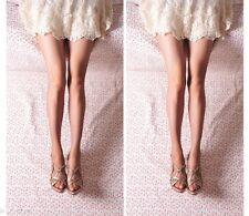 Womens sexy 10D transparent with the crotch Pantyhose Stockings Tights Leggings