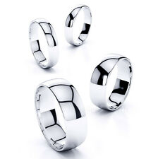 Men's Women's Stainless Steel Mirror Polished Comfort Fit Wedding Band Ring