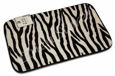 "20""x32"" ZEBRA ANIMAL DESIGN BATH MAT, FOAM PLUSH RUG, NON-SLIP, SHOWER MAT RUG"