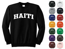 Country Of Haiti Adult Crewneck Sweatshirt College Letter