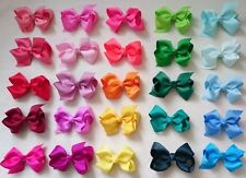 GROSGRAIN RIBBON BOW HAIR CLIP PIN ALIGATOR  CLIPS FLOWER  BABY/GIRL