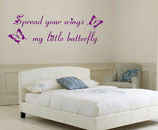 Little Mix Spread your wings my little butterfly WALL QUOTE STICKER DECAL ART