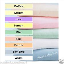 COT & COT BED PLAIN DYE BEDDING FITTED/FLAT SHEET DUVET COVER PILLOW CASE PASTEL