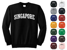 Country Of Singapore Adult Crewneck Sweatshirt College Letter