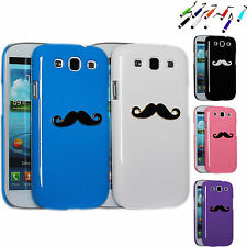 3D PATTERNED MUSTACHE GLOSSY HARD PLASTIC CASE COVER FOR SAMSUNG GALAXY S3 i9300