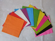 200 Wedding Luncheon Dinner SOLID COLORS BEVERAGE COCKTAIL NAPKINS paper