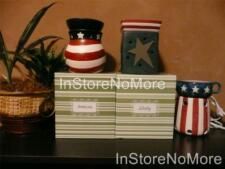 1 Scentsy FULL SIZE Warmer PATRIOTIC 4TH JULY Retired DISCONTINUED Holiday RARE