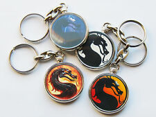 MORTAL KOMBAT Classic Video Game Quality Chrome Keyring Choose From 5 Designs!