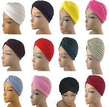 1pc High Quality Very Stretchable Turban Hat Cap 12 Different Colors