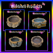 REPTILE WATER FOOD POOL, BOWL, DISH for reptiles geckos spiders snakes lizards
