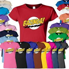 Hot New Womens Ladies Girls Fitted Soft Tee T-shirt Top Bazinga T Shirt S M L XL