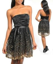 Ladies Girl Prom Cocktail Wedding Sequins Layered Dress Size 8 S 10 M 12 L NEW