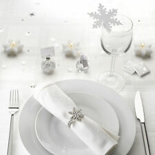 Shimmering Snowflake Winter Wedding Table Decorations