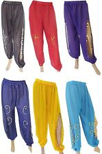 CREP BELLY DANCE HAREM PANTS DANCING COSTUME BOHO HIPPIE  ALADDIN YOGA SEXY 415